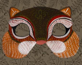 DOWNLOADABLE-PRINTABLE Paper Animal Masks: Chipmunk
