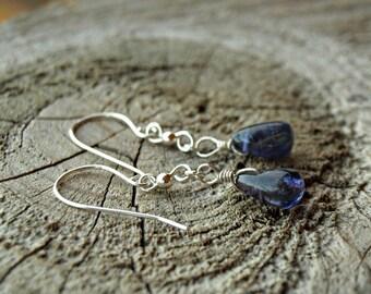 925 Sterling Silver Iolite Earrings