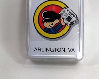 Newseum Playing Cards/Crafts/New/Own Plastic Case/Arlington, VA/Newsboy