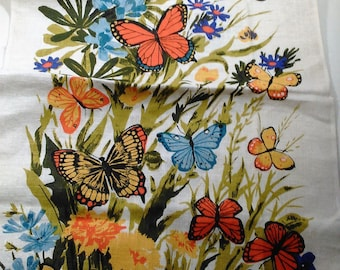 Dish/Tea/Kitchen Towel With Butterflies and Fower Motiff/Not Been Used (P)