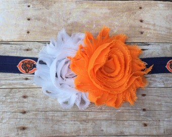 Chicago Bears Headband // Baby Headband // Baby Hair // Football // Bears // NFL // Football // Bear Down // Bears Headband // Bears Hair