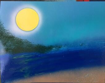 """11x14 Spray Paint Art, """"The Calm""""!"""