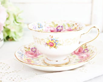 "Vintage Royal Albert ""Serena"" Teacup & Saucer | Tea Party Teacup, Floral Teacup, Pretty Teacup, English Teacup, Bone China Teacup"