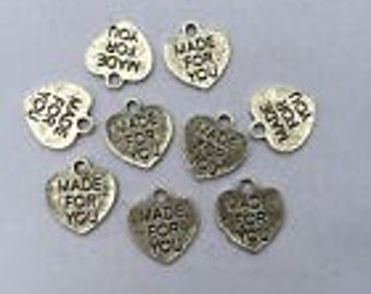 Silver Charms Made for You Heart x24
