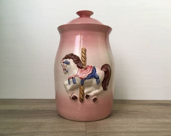 Carousel Cookie Jar