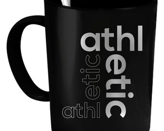 Athletic Cup, Athletic Mug, Athletic Art, Coffee Cup, Latte Mug, Latte Cup, Custom Cup, Personalized Gift, Girlfriend Gift, Fitness Cup