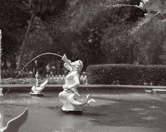 Forsyth Fountain, Savannah Georgia, Forsyth Park, Photography, Black and White Photography, Fine Art Photography, Savannah, GA