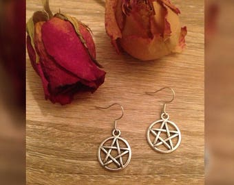 Stainless Pentagram Earrings