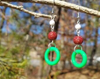 Christmas Hoop Earrings