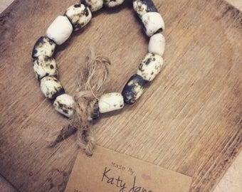 Handmade Porcelain Beaded Bracelet