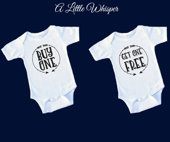 Buy One Get One Free: SALE Twins Onesie Set Buy One/Get One Free By ALittleWhisper