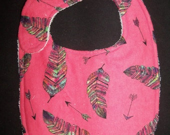 Pink Feather Bib
