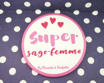 Badge Super midwife