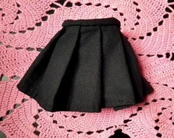 Black Pleated BJD Skirt for SD / MSD  / yosd / leekeworld art body