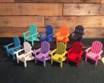 Colorful Mini Adirondack Chairs