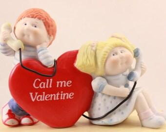 1985 Original Cabbage Patch Fine Porcelain Figurine. Valentine Phone Call.