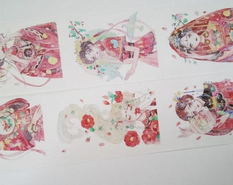 Design Washi tape girl traditional fixed broadband