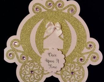 Princess Carriage Invitation, Cinderella carriage, Set of 10