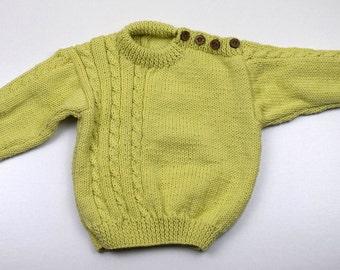 "Childs Button Shoulder Sweater 12-18 Months (23"" Chest)"
