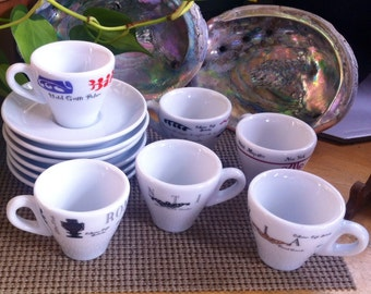 RARE D Reinhart IPA (Set of 6) Starbucks Espresso Cups & Saucers