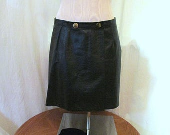 Leather wrap skirt | Etsy