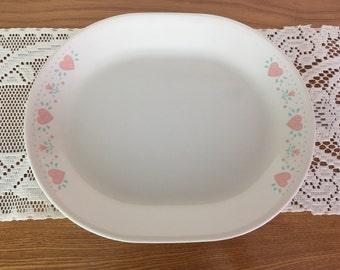 Vintage Corelle Platter, Forever Yours Pattern, 1980s