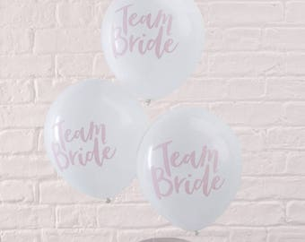 Team Bride Pink and white Balloons - Bachelorette  party balloons Hen Party Hens Night Bridal Shower Decoration