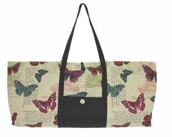 Butterfly print yoga mat bag