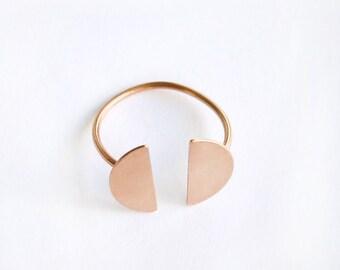 Rose Gold Ring - Adjustable Silver 925 - Minimal