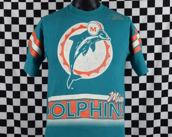 Miami Dolphins Salem Sportswear Tee Shirt / Vintage Dolphins NFL T-shirt / Youth size 18-20 / Football / 1990's