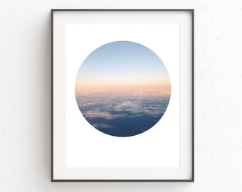 Cloud Print, Printable Art, Blue Wall Art, Instant Download Printable Art Cloud Wall Art, Cloud Photography, Oju Design