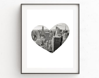 New York Print, New York Skyline Art, Cityscape, New York Photography, Photography Wall Prints, Black and White Photography, Artwork