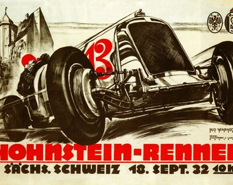 Car Germany German Hohnstein Rennen Automobile  Race Grand Prix Vintage Poster Repro FREE SHIPPING in USA
