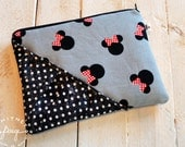 Minnie Zippie - Zipper Pouch, Cosmetic Pouch, Coin Purse, Zipper Bag