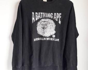 Vintage A Bathing Ape Big Logo Sweater Sweatshirt