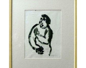 French Gestural Figure by Alexander Jordanou