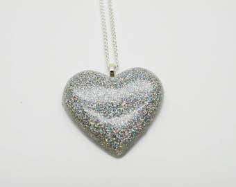 Holographic Necklace - Holo Heart Necklace