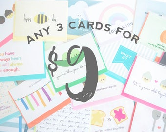 Any 3 Cards With Free Shipping!