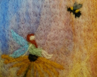 "Felted Wall Art: ""Playmates"""