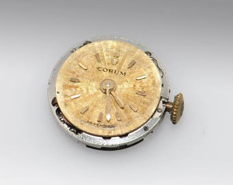 VIntage Corum Manual Wind Watch Movement with Crystal