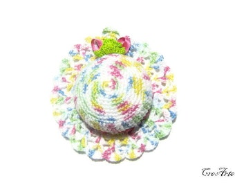 Crochet Pincushion, Shades of Pastel Colors, Pincushion, Handmade Pincushion, Sewing accessories, Puntaspilli (Cod. 61)