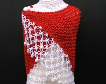 Christmas Shawl,and Scarf,Winter Shawl and Scarf,Women Accessory,Knit and Crochet Shawl,Hand Made,Winter Shawl.
