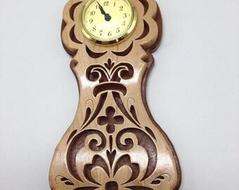 Rosemaling Clock