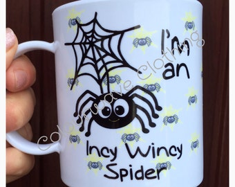 Personalised Children's Polymer 'I'm a Incy Wincy Spider Mug'