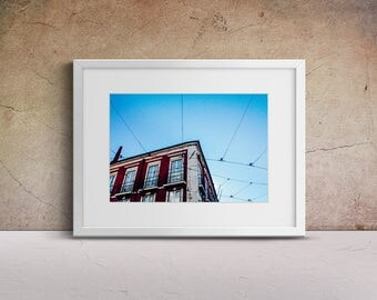 "Lisbon Photography, ""Push the Sky Away"" Print Wall Art Decor Gift Apartment Art Travel"