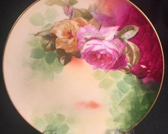 Antique Coronet Limoges Plate Signed by Rancon