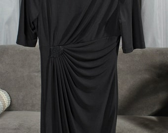 Connected Apparel, size 6, black dress
