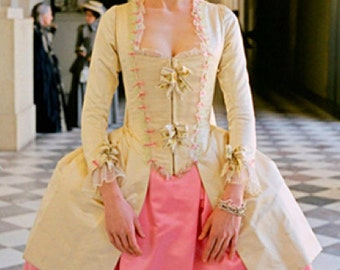 Marie Antoinette gown caraco dress rococo georgian colonial 18th century costume