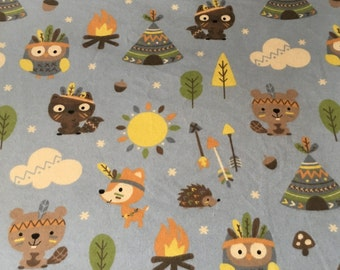 Animal Native Flannel Baby/Toddler Blanket