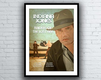Indiana Jones Raiders of the Lost Ark Movie Poster / Print